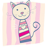 Pink kitten Stock Photo