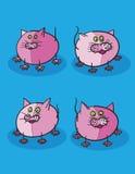 Pink Kittens Cartoon Stock Image