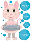 Pink Kitty Beg Foods_eps Royalty Free Stock Images