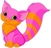 Pink Kitty. Illustration of very cute pink kitty Stock Photo