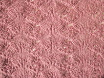 Pink knitted abstract Stock Images