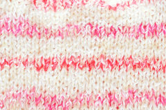 Pink knitted background for baby girl. Horizontal image. Royalty Free Stock Photography