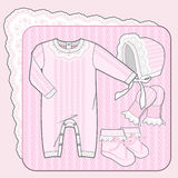 Pink knitted collection Royalty Free Stock Images