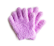 Pink knitted gloves Royalty Free Stock Images