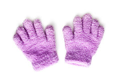 Pink knitted gloves Stock Photography