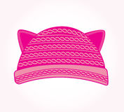 Pink knitted hat Stock Photo
