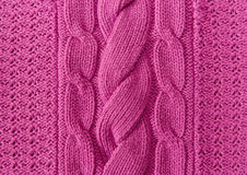 Pink  Knitted Items.Hand Made;Fancywork.Background Stock Photo