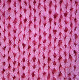 Pink knitted textured background Royalty Free Stock Images
