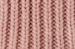 Pink knitted wool Stock Photo
