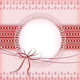Pink knitting background. Royalty Free Stock Images