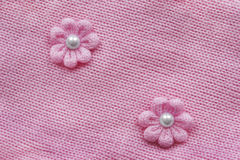 Pink knitting Stock Images