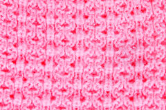 Pink knitting Royalty Free Stock Images