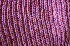 Pink knitting wool texture Stock Images