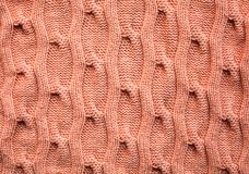 Pink  knitting wool texture Royalty Free Stock Photography