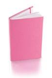 Pink läderdagbokboken - clippingbana Fotografering för Bildbyråer