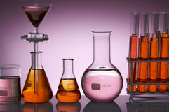 Pink laboratory Royalty Free Stock Photos