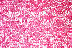 Pink lace Stock Images