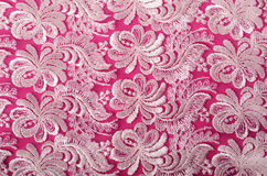 Pink and lace background Stock Photo