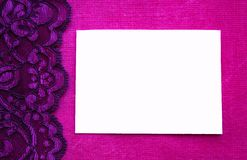 Pink lace background with white space Royalty Free Stock Photo