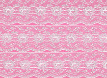 Pink lace border background. Pink and white lace border background royalty free stock photography