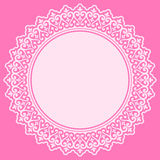 Pink lace design element Royalty Free Stock Photos
