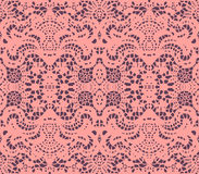 Pink lace doily Stock Photo