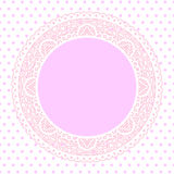 Pink Lace doily background Royalty Free Stock Photos