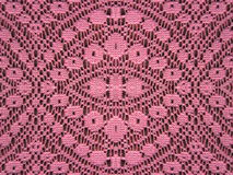 Pink lace fabric background Royalty Free Stock Photos
