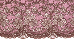 Pink lace. Isolate Royalty Free Stock Photos