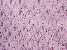 Pink lace knit fabric Stock Photography