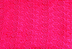 Pink lace pattern fabric Royalty Free Stock Photography