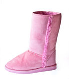 Pink ladies boot Royalty Free Stock Image