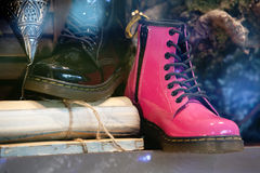 Pink ladies boot Stock Images