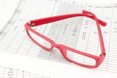Pink ladies rectangular glasses Stock Photos