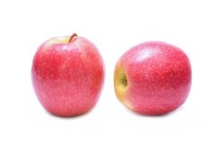 Pink Lady apples. On white Stock Photos