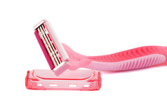 Pink lady shaver. On white background Stock Photography