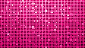 Pink Ladys Disco Matrix Background. Background with pink and white mosaic vector illustration