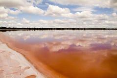 Pink Lake. The remarkable salt lake, Pink Lake, not far from Dimboola, Australia royalty free stock photo