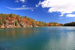 Pink lake in autumn. Pink lake(Ontario, Parc Gatineau) in october Royalty Free Stock Image