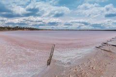Pink Lake Becking Landscape. Pink Lakes, Murray-Sunset National Park, Australia Stock Images