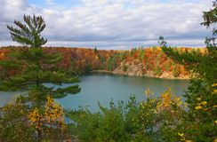 Pink Lake, Quebec stock images