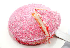 Pink Lamington Coconut cake Royalty Free Stock Images