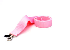 Pink lanyard Royalty Free Stock Photos