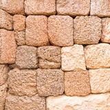 Pink Laterite and Sandstone Wall. Laterite and Sandstone Wall of Stone Castle in Thailand Stock Image