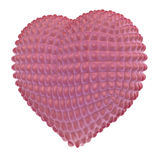 Pink, latex heart with knob surface Royalty Free Stock Photography