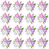 Pink, Lavendar and White Rose Background Stock Images