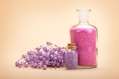 Pink and lavender Spa minerals Stock Images