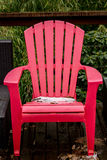 Pink Lawn Chair Royalty Free Stock Photography