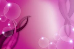 Pink leaf and bubble, abstract background Royalty Free Stock Image
