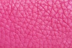 Pink leather. Natural pink leather background closeup Stock Images